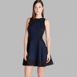 Ted Baker Dresses - Ted Baker Hearn Dress - Navy Blue and Black